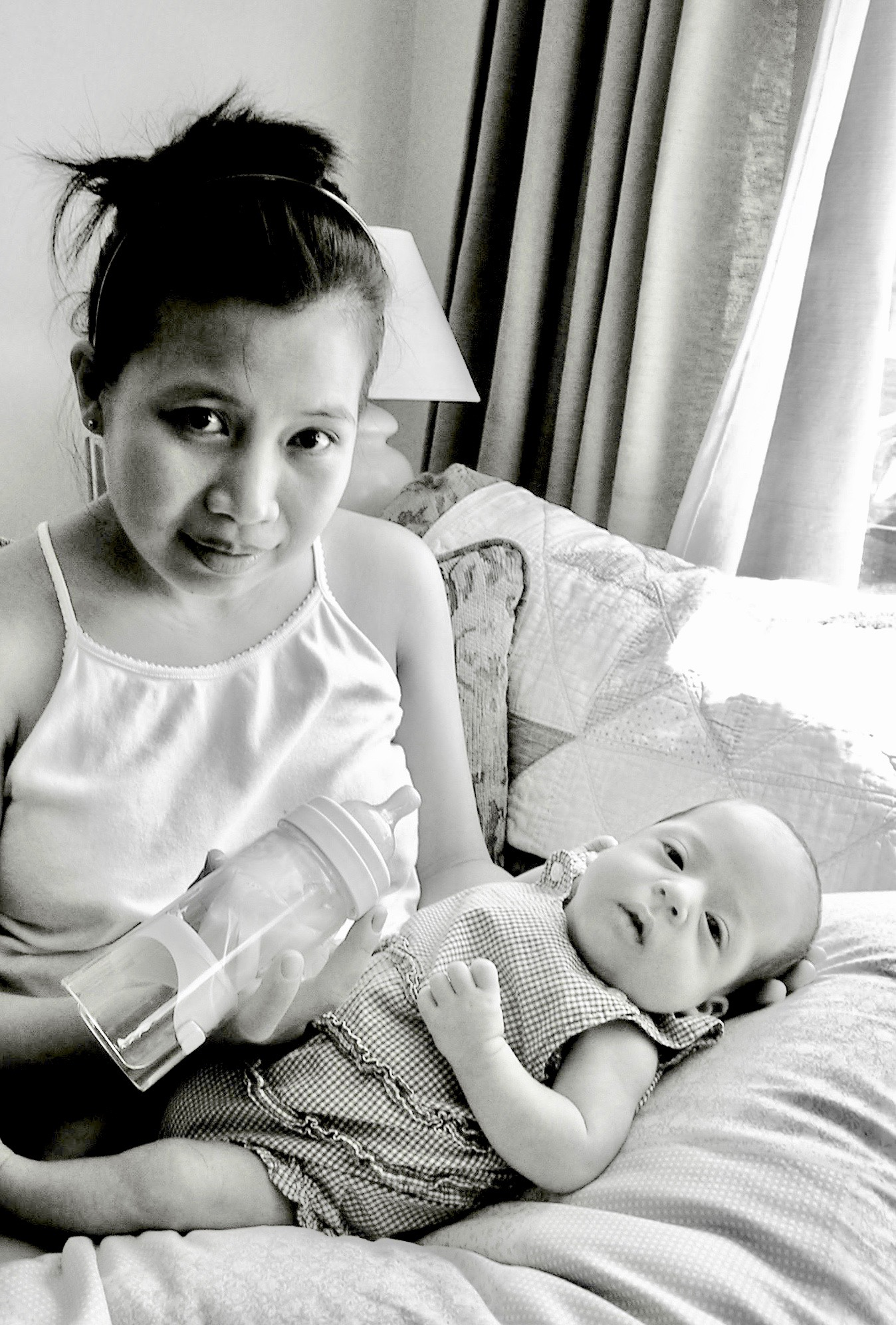 I had to pump and bottle- fed my preemie for two and a half month before she could nurse