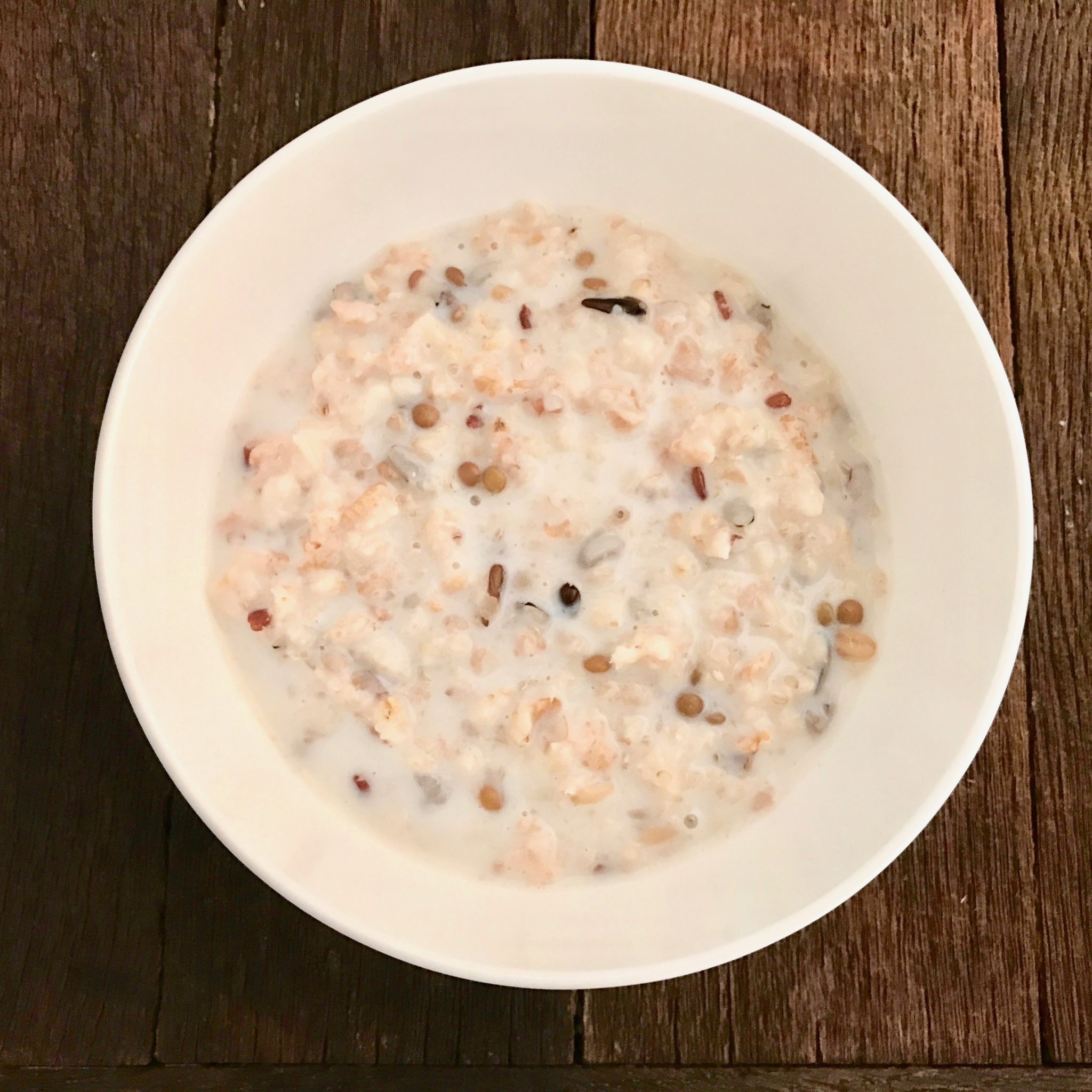 a bowl of fermented- mixed whole grains j