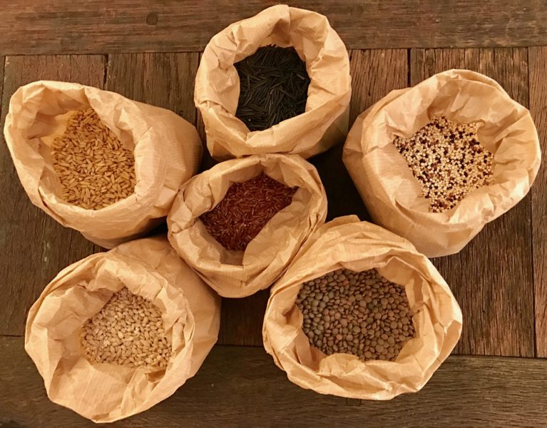 dried whole grains of choice