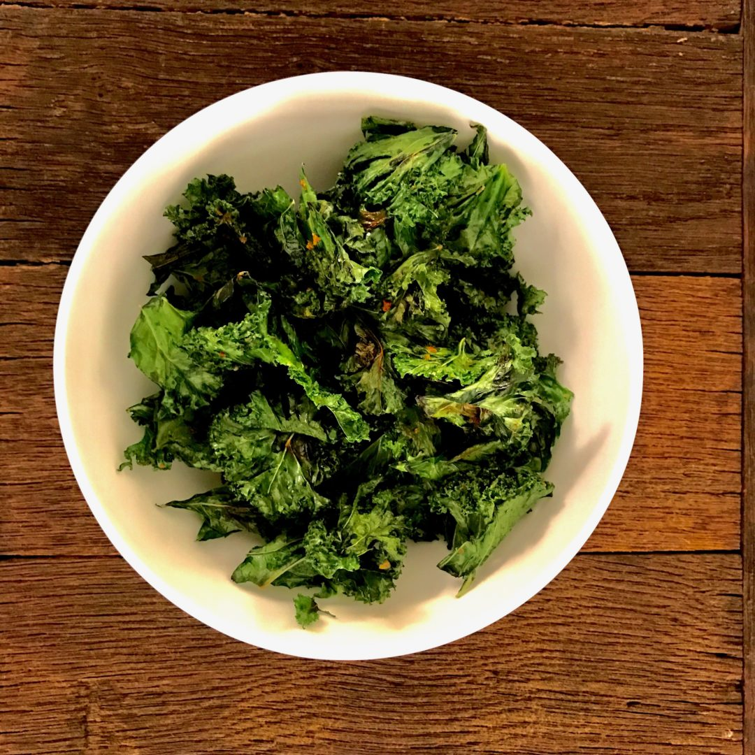Kale chip without an oven