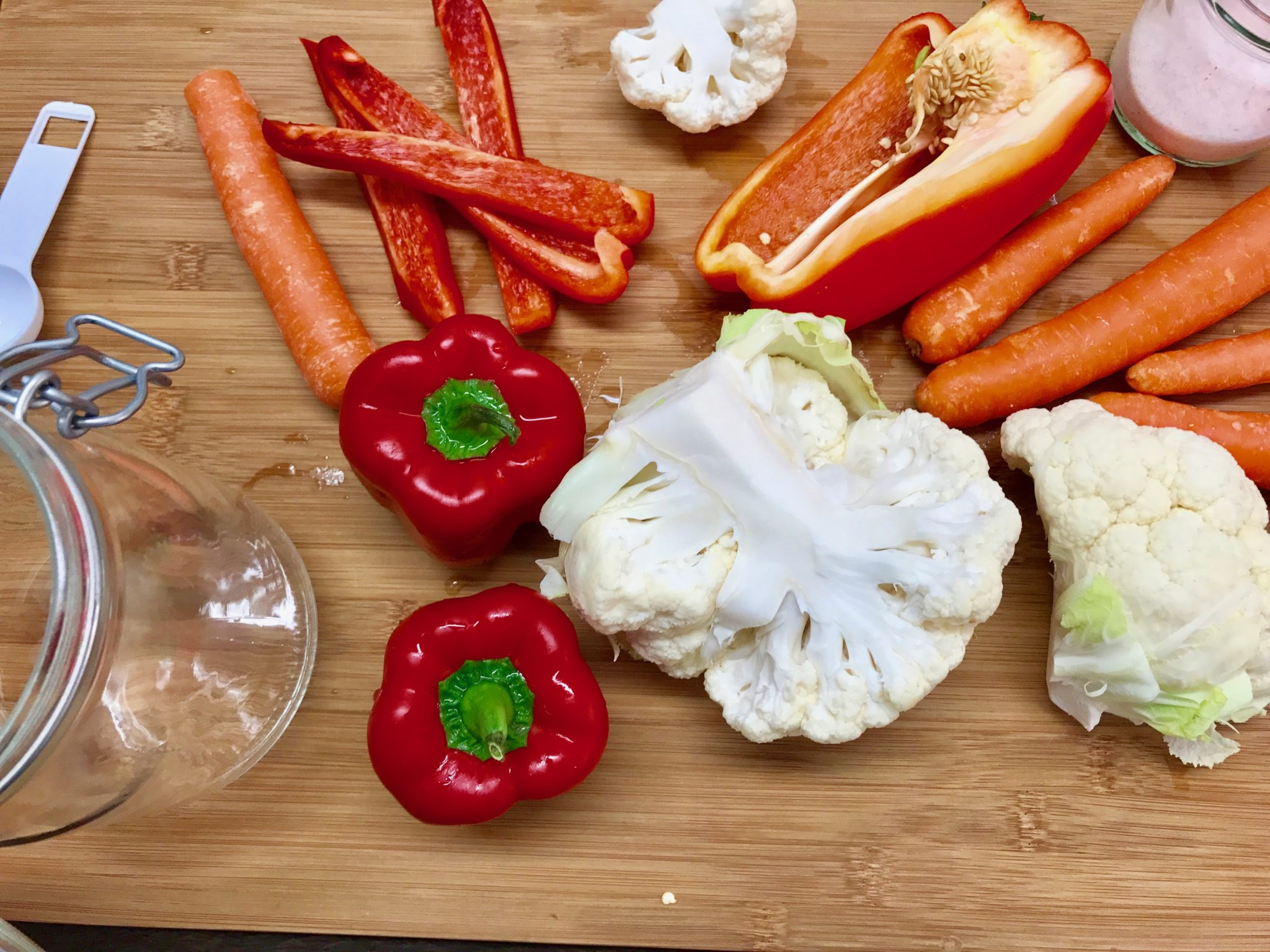 wash and prepare the vegetables