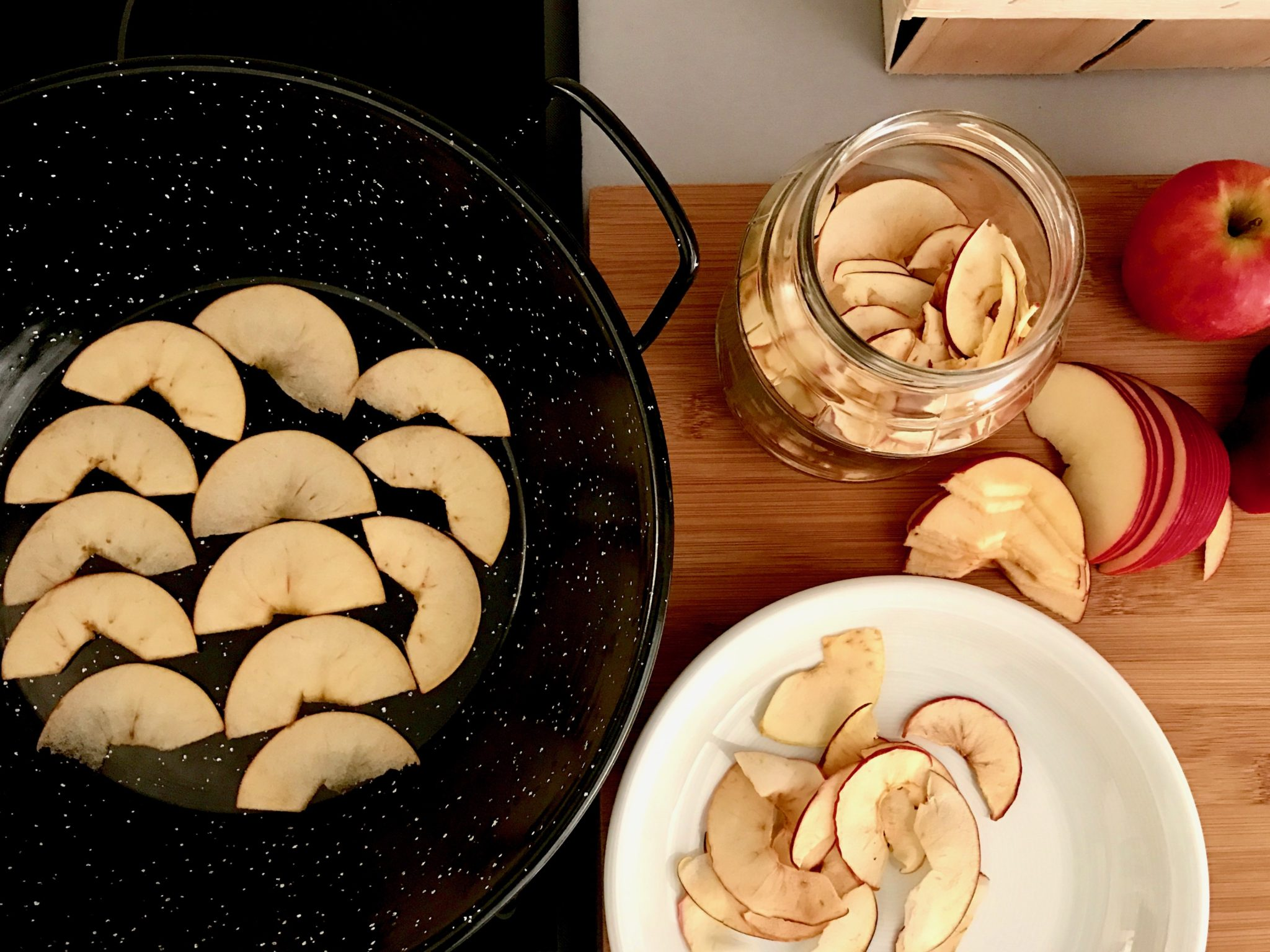take the dried pices out and cool them on a plate