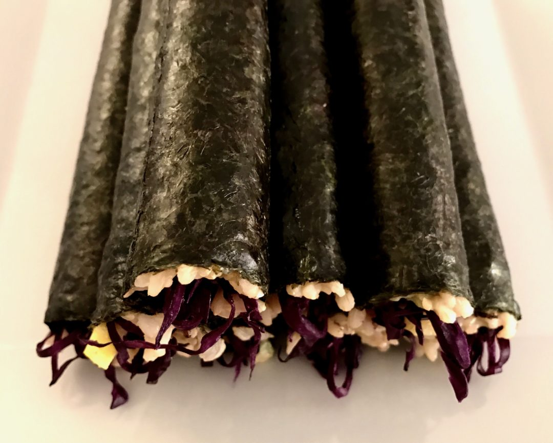 vegetarian sushi rolls-gourmetvegetariankitchen.com