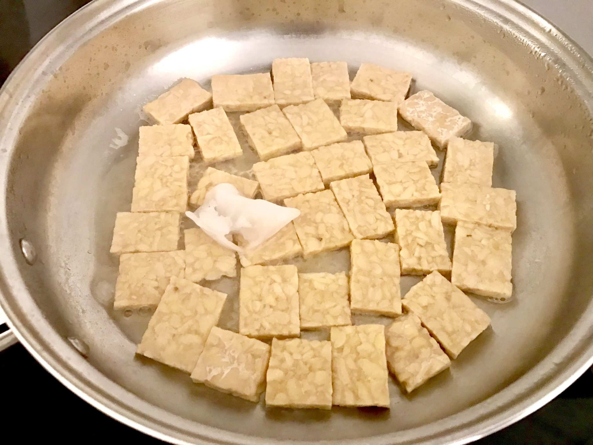 cover the tempeh with water and cook well
