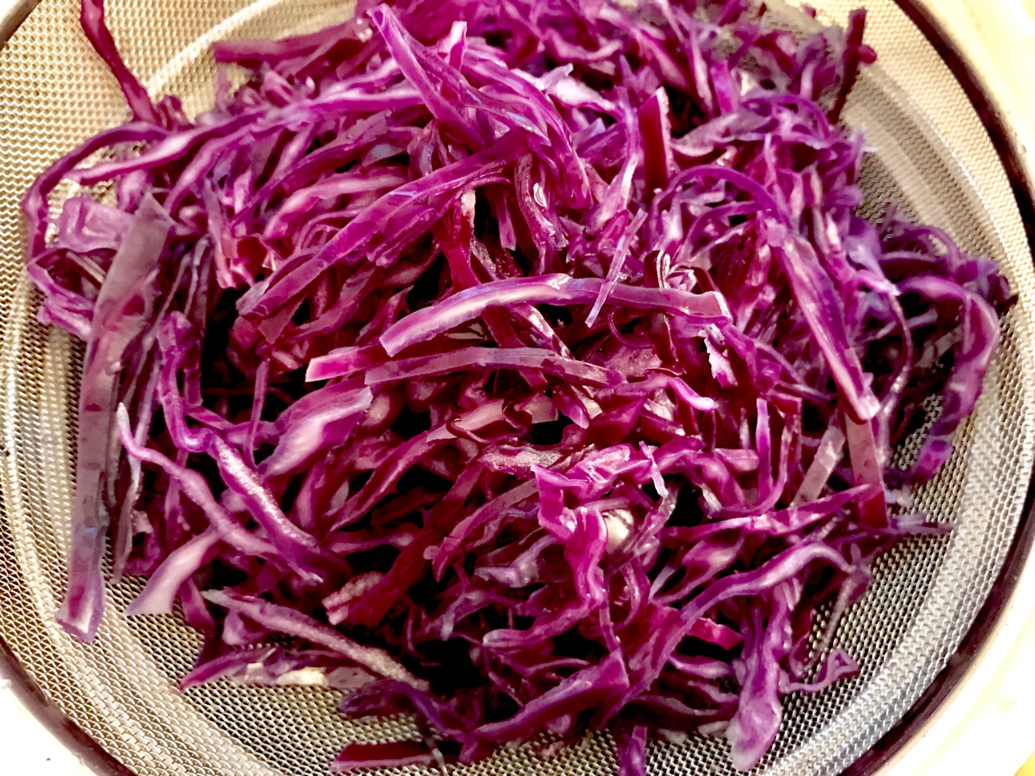 blanched purple cabbage