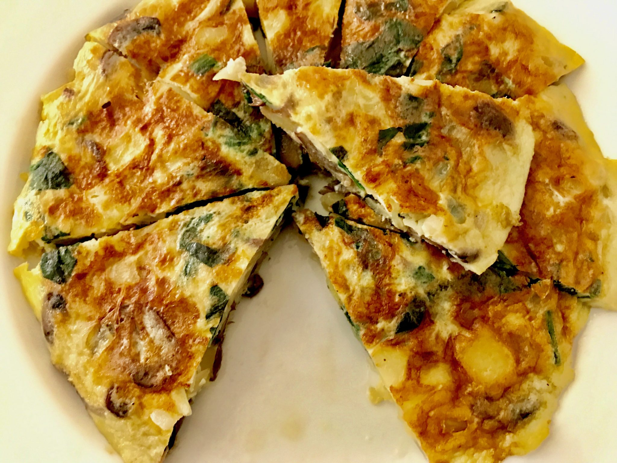 finished spanish omelette or tortilla patata