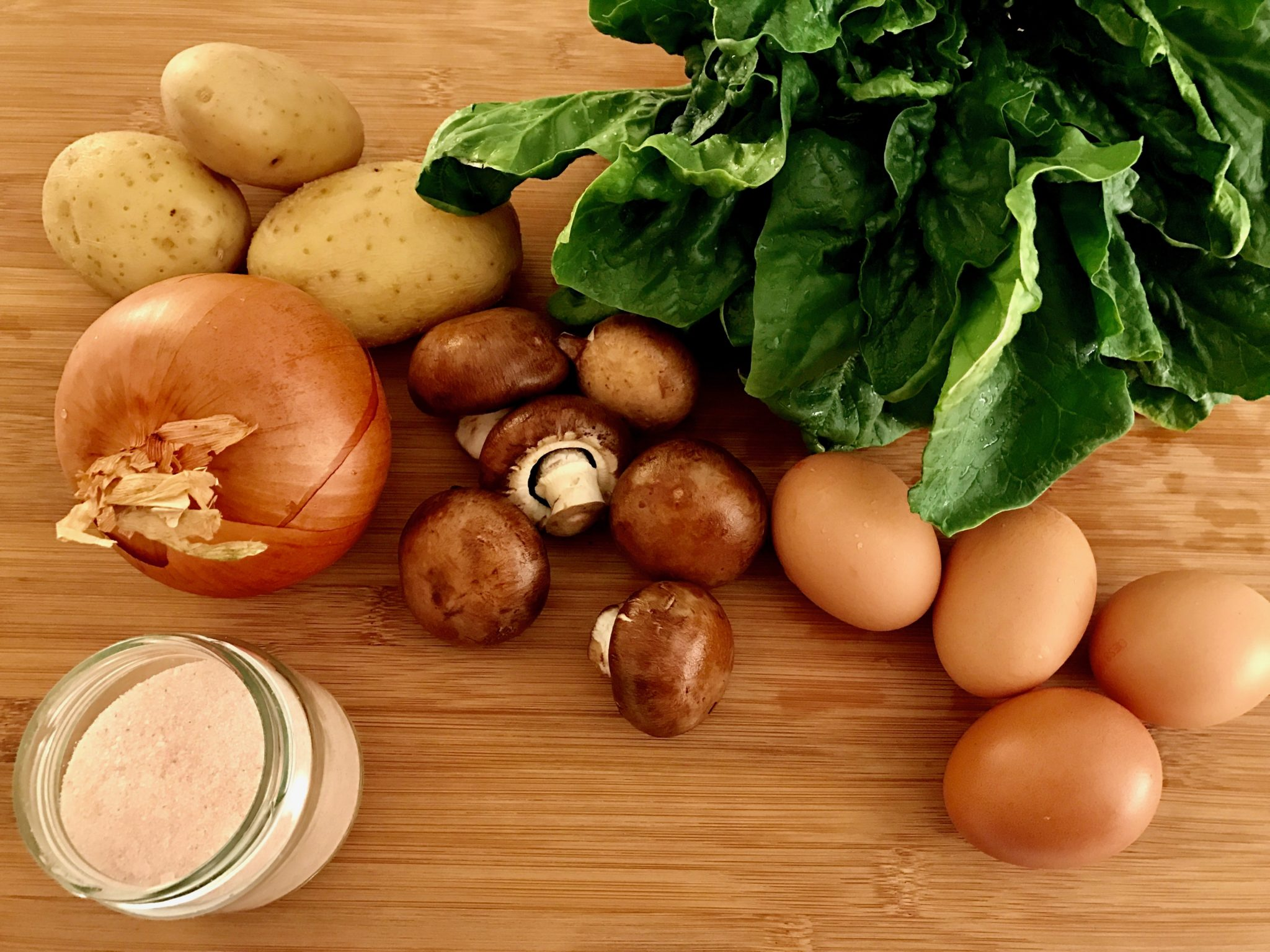ingredients for tortilla de patatas