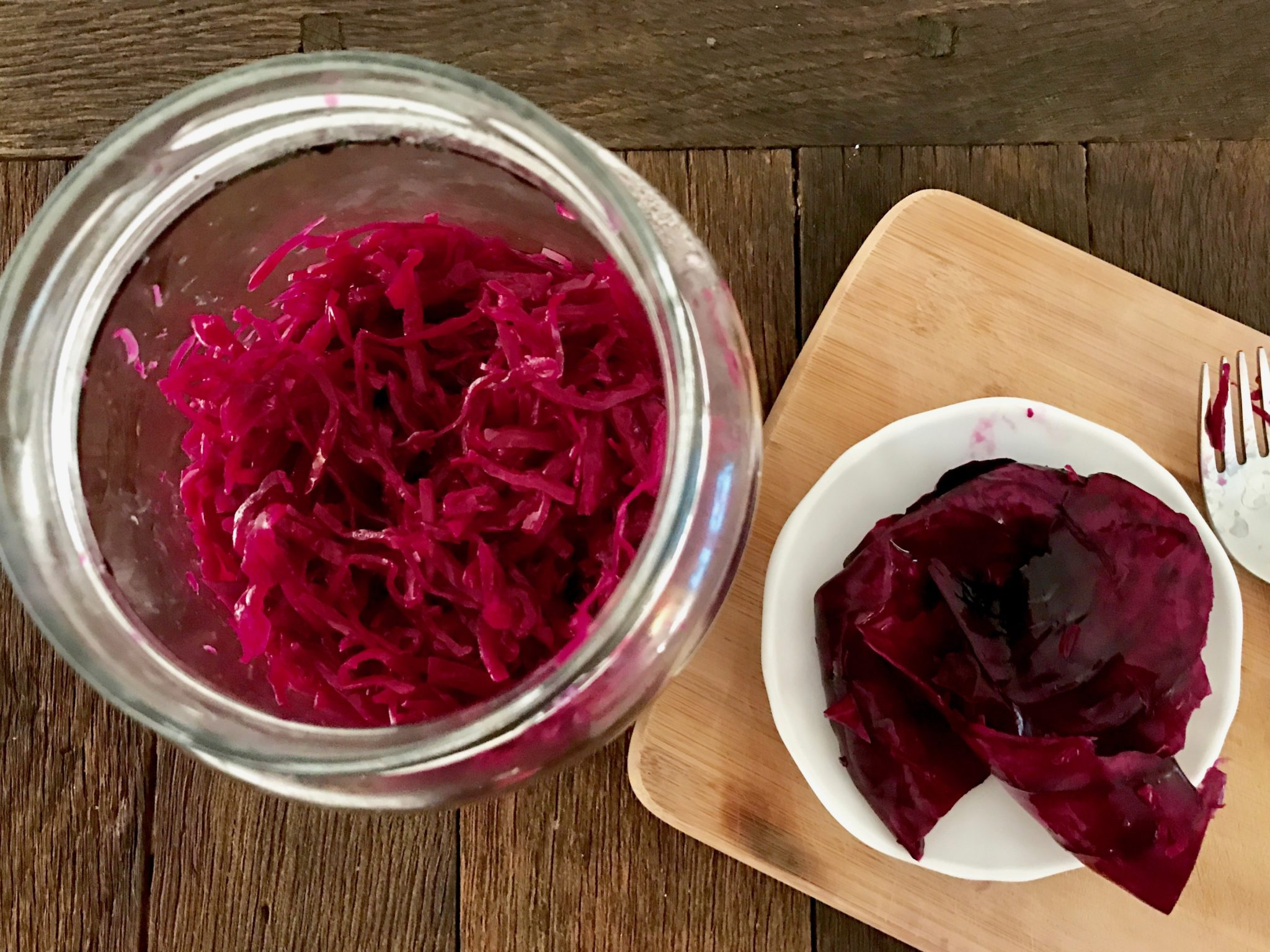 finished sauerkraut after 1 month