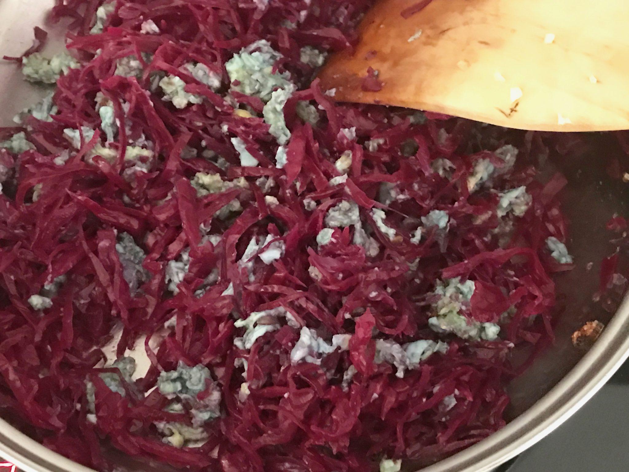 mix in the sauerkraut