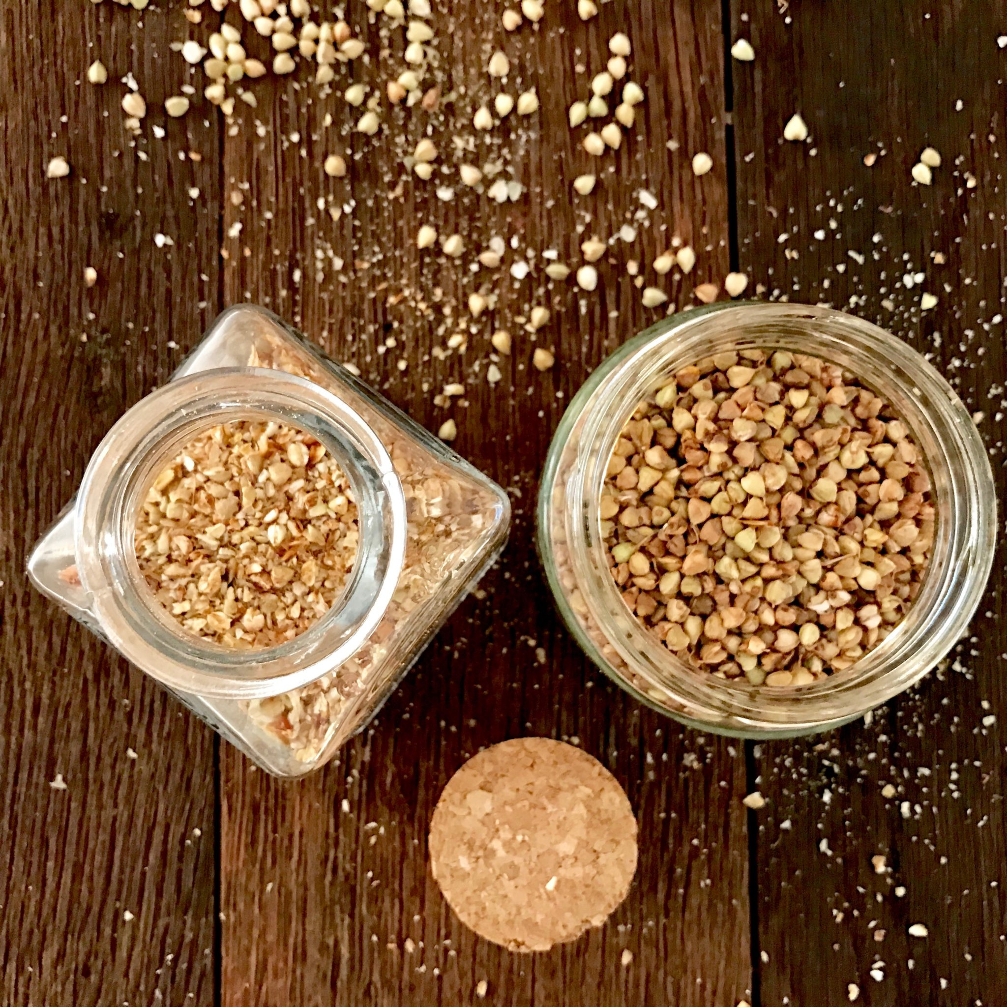 store sprouted-toasted buckwheat in glass jars