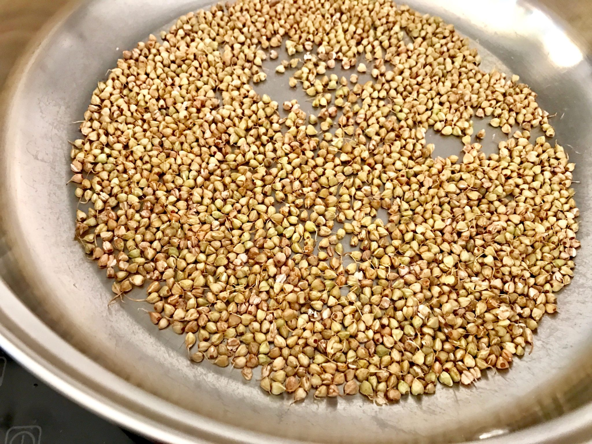 sprouted buckwheat after being toasted