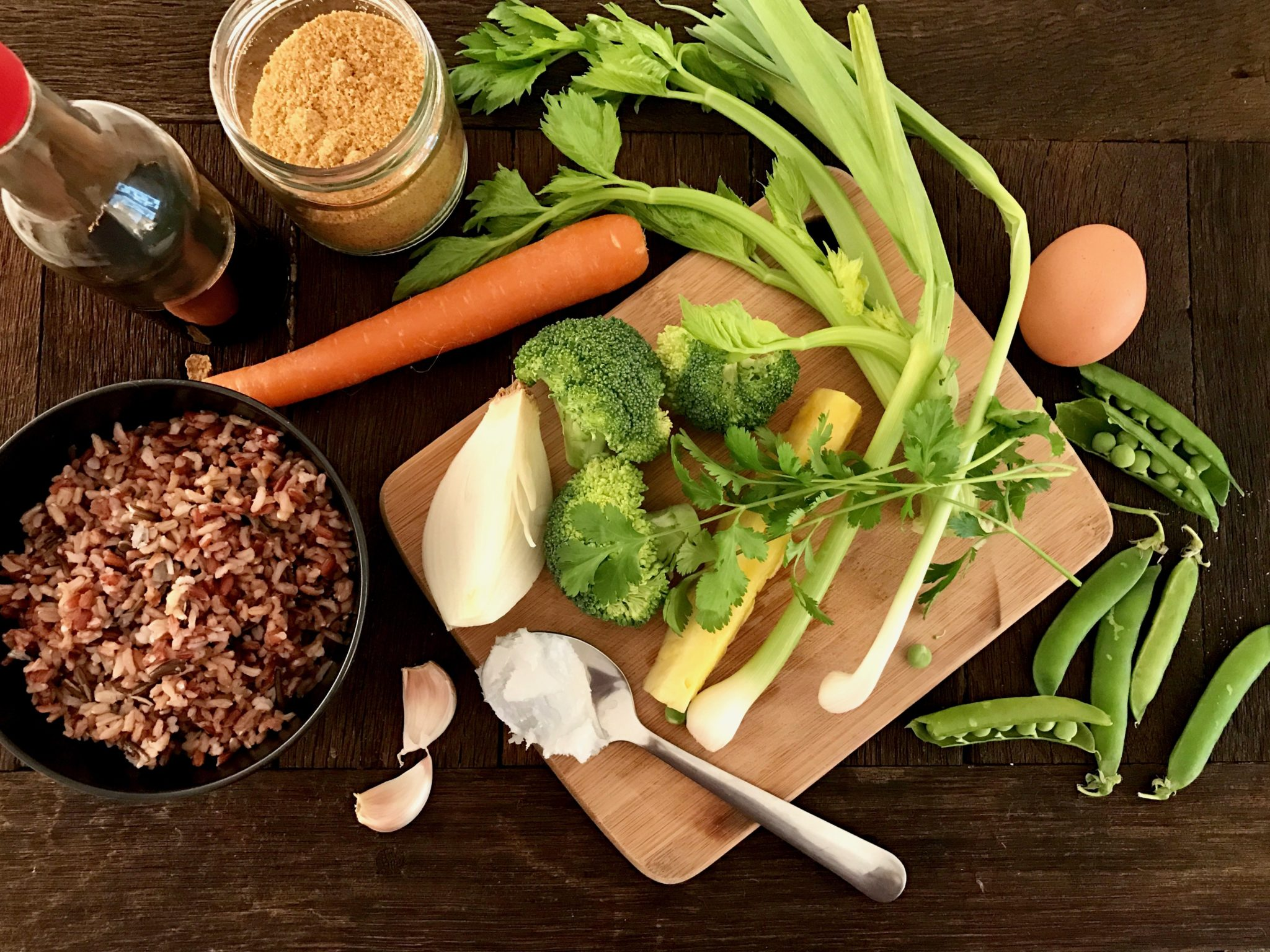 ingredients for thai vegetarian fried rice