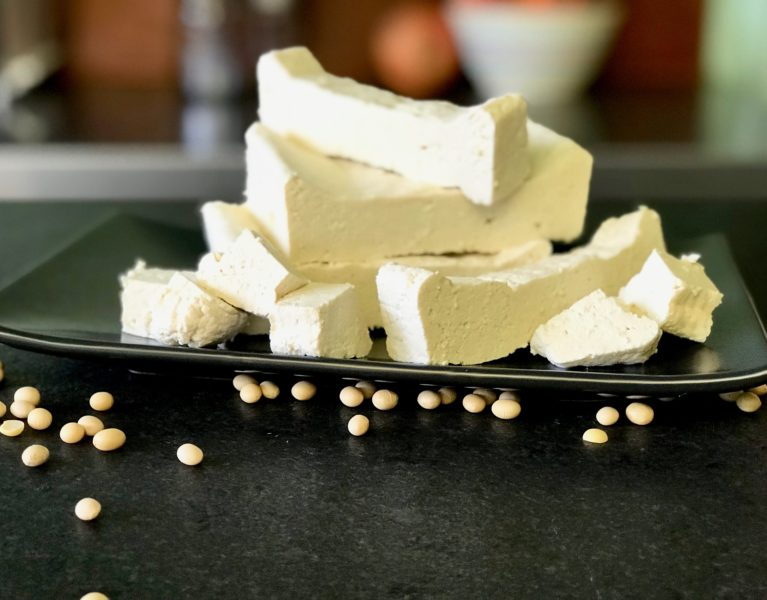 sprouted tofu-make your own with only 3 ingredients